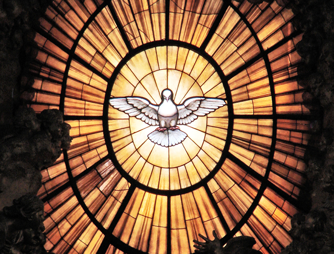 Bernini's stained glass dove window in St. Peter's Basilica