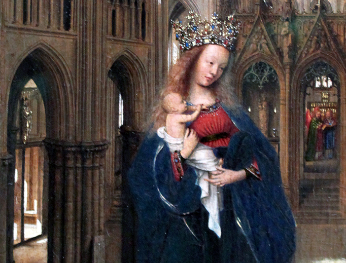 "Jan van Eyck, ""The Madonna in the Church"", c. 1440"