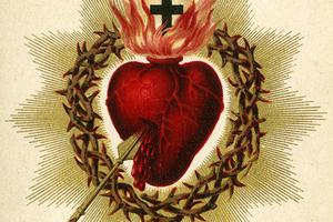 Holy card depicting the Sacred Heart of Jesus, ca. 1880. Auguste Martin collection, University of Dayton Libraries.