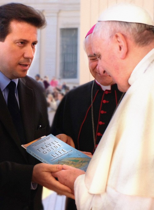 Anthony DeStefano with Pope Francis