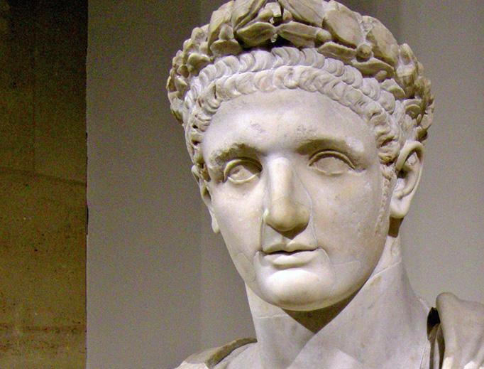Bust of Roman emperor Domitian. Musée du Louvre, Paris.