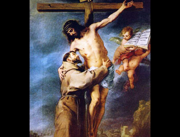 "Bartolomé Esteban Murillo (1617–1682), ""Saint Francis Embracing Christ on the Cross"""