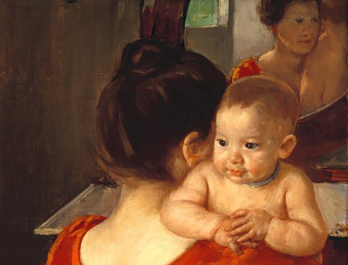 """Mary Cassatt, """"Woman in a Red Bodice and Her Child"""", between 1896 and 1906"""