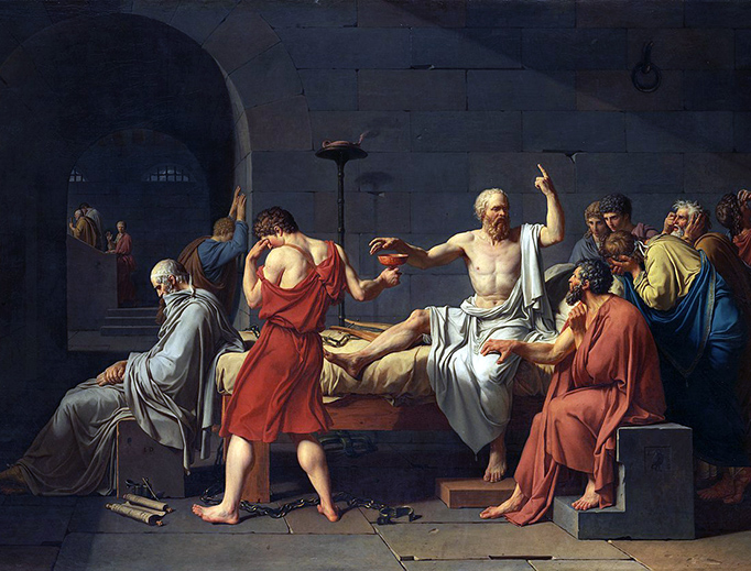 "Jacques-Louis David, ""The Death of Socrates,"" 1787"