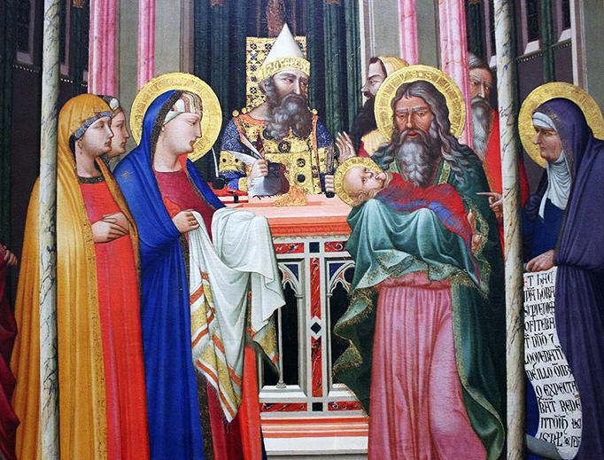 """Ambrogio Lorenzetti (1290-1348), """"The Presentation"""""""