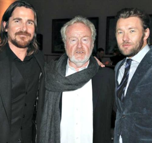Christian Bale, Ridley Scott and Joel Edgerton