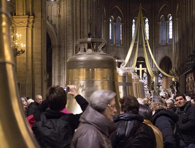 Exhibition of the bells in Notre-Dame de Paris in 2013.