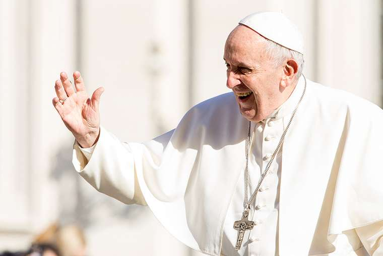 Pope Francis in St. Peter's Square March 14.