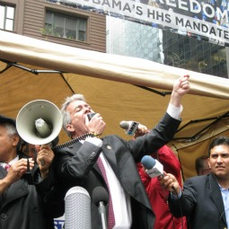 """Rep. Joe Walsh, R-Ill., told protesters in Chicago, """"If you're not prepared to go to jail and stand up for your freedom, you don't know what's at stake in this election."""""""