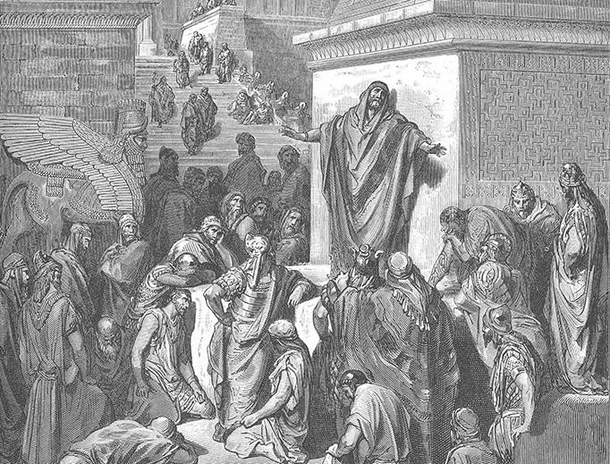 "Gustave Doré (1832-1883), ""Jonah Preaching to the Ninevites"""