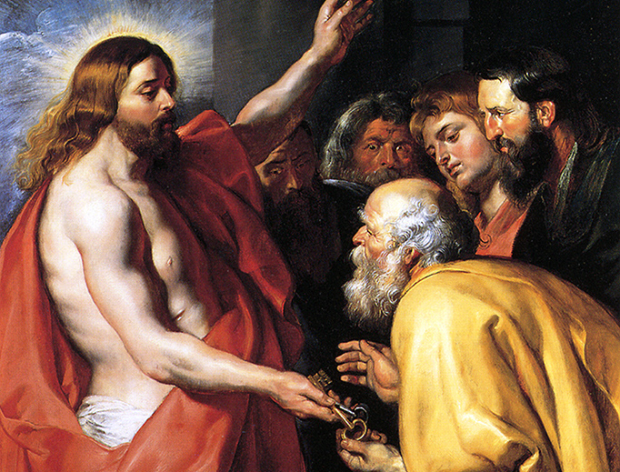 "Peter Paul Rubens, ""Christ Giving the Keys to St. Peter,"" c. 1614"