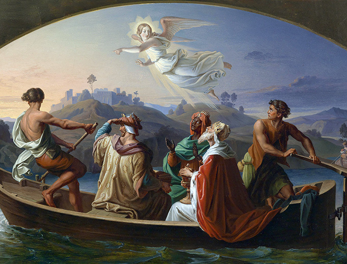 "Joseph Binder, ""The Three Holy Kings on the Way to Bethlehem,"" 1846"