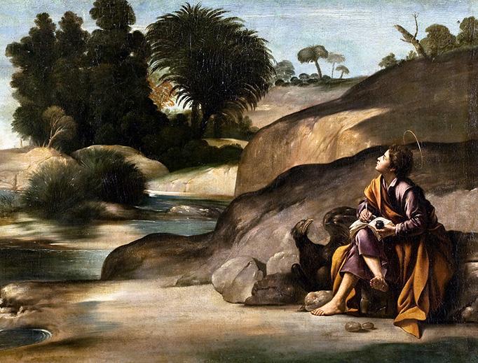 "Juan Bautista Mayno, ""Saint John the Evangelist in Patmos,"" c. 1613"