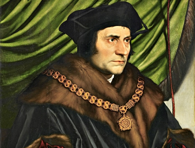 Detail of Hans Holbein the Younger's portrait of St. Thomas More