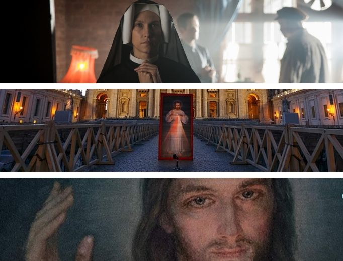 Top to Bottom: Love and Mercy: Faustina, The Original Image of Divine Mercy and The Face of Mercy