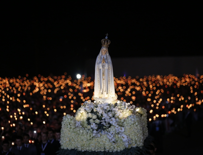 Prayer vigil at the Shrine of Our Lady of Fatima May 12, 2017, in preparation for the 100th anniversary of the Fatima apparitions.
