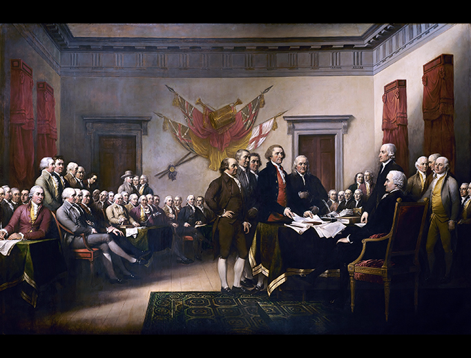 "John Trumbull (1756–1843), ""Declaration of Independence"""
