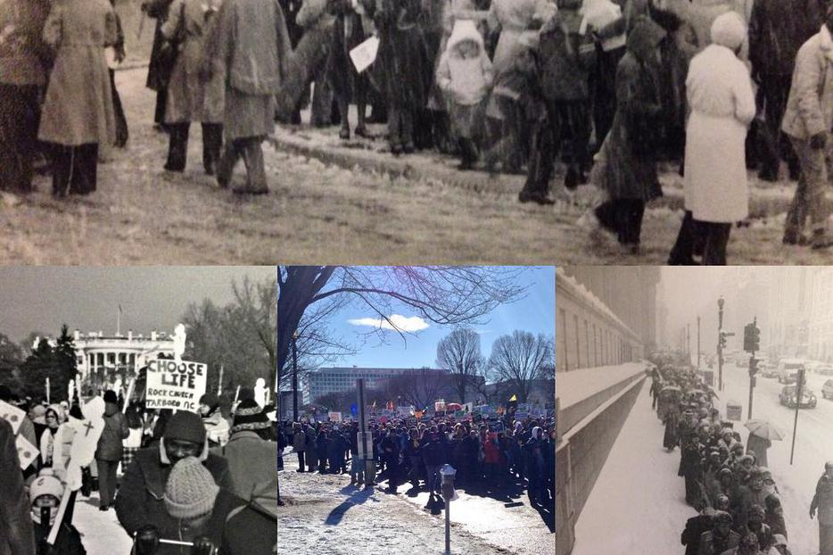 The March for Life over the years