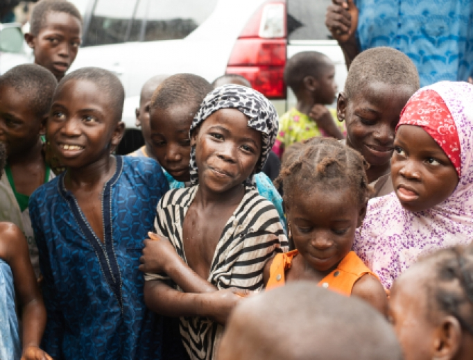 Refugee orphan children sheltered in an orphanage in Lagos, Nigeria in August 2018.