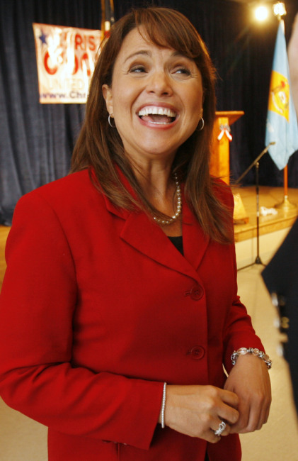PRIMARY VICTORY. Delaware Republican senatorial candidate Christine O'Donnell smiles after her campaign victory event in Dover, Del., Sept. 14.