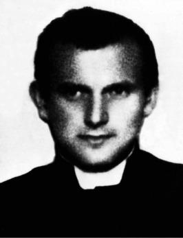 Karol Wojtyla as a seminarian in Poland.