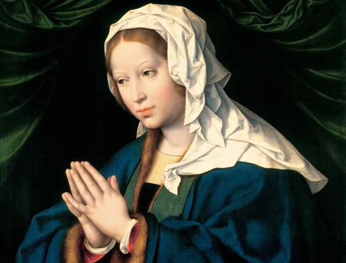 "Joos van Cleve (c. 1485-1540), ""The Virgin in Prayer"""