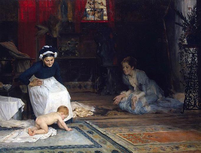 """Albert Edelfelt, """"In the Nursery"""" (1885)"""