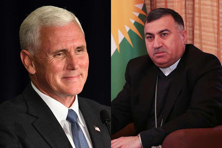 U.S. Vice President Mike Pence and Archbishop Bashar Warda