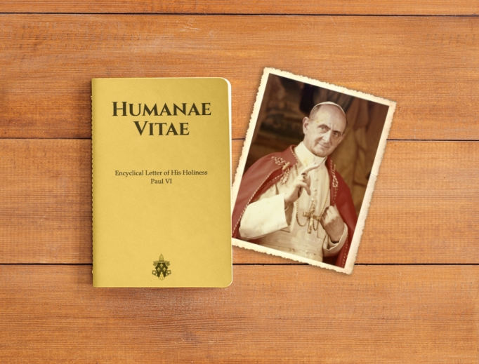 Image of Paul VI's prophetic document from Sexual Revolution: 50 Years Since Humanae Vitae.