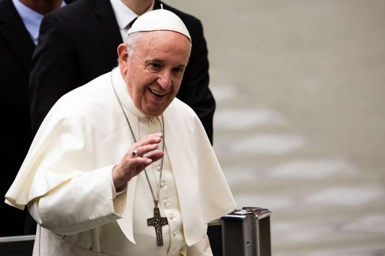 Pope Francis at the general audience Feb. 6.