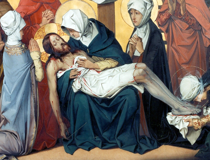"""Theophile Marie Francois Lybaert (1848-1927), """"Jesus' Body is Removed From the Cross"""""""