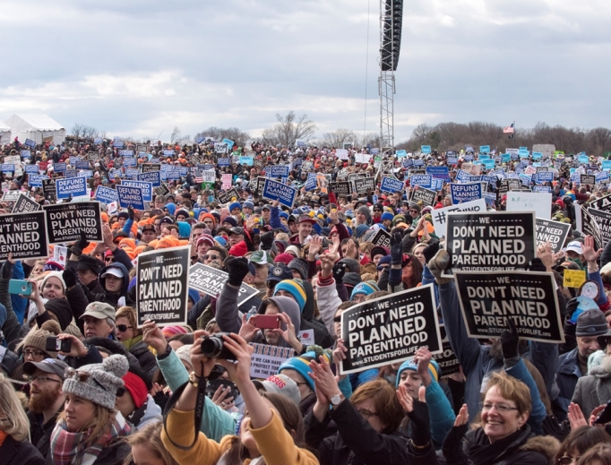 Thousands descend on Washington each year to support the pro-life movement.