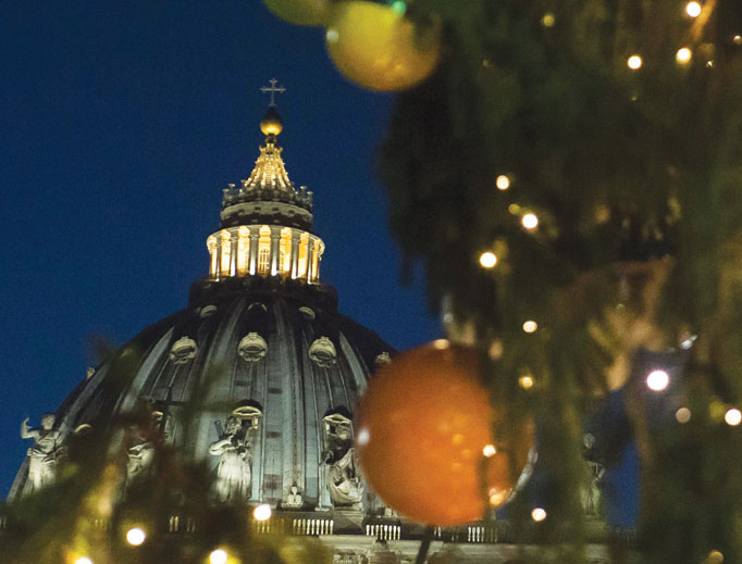The unveiling of the Nativity scene and Christmas tree in St. Peter's Square on Dec. 9.