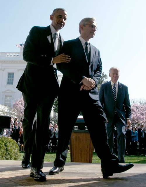 President Barack Obama walks at the White House with Merrick Garland, his nominee for the U.S. Supreme Court, on March 16.