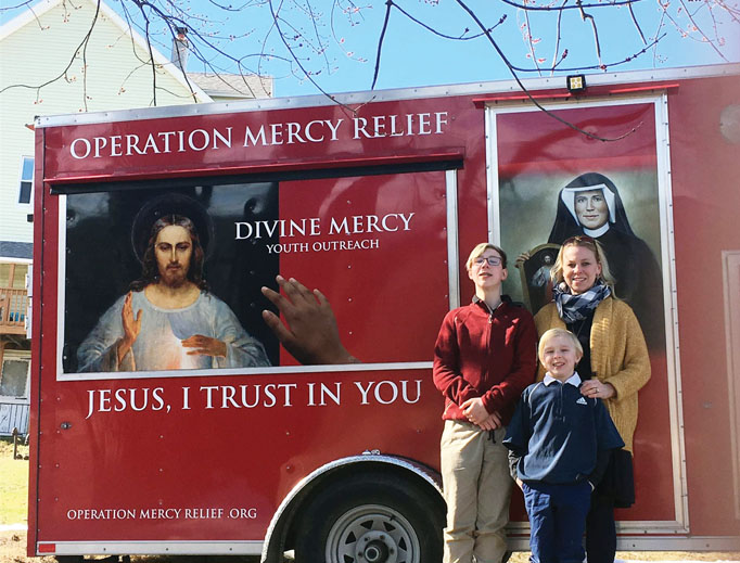 Vera Miller and sons Dean, 12, and Luke, 8, enjoy supporting 'Divine Mercy for Youth.'