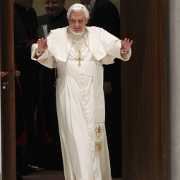Pope Benedict XVI arrives to lead his general audience in Paul VI hall at the Vatican Dec. 1.