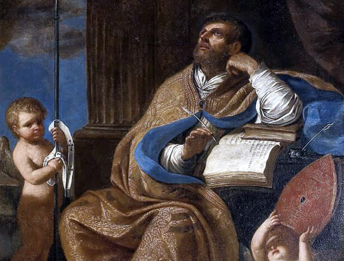 """School of Guercino, """"Saint Peter Chrysologus"""" (17th Century)"""