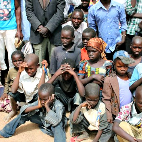 Children in the Diocese of Maroua-Mokolo, Cameroon. Children there are threatened and recruited by Boko Haram.