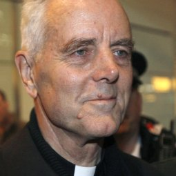 British-born Bishop Richard Williamson arrives at Heathrow Airport in London in this 2009 file photo. The Society of St. Pius X threatened to expel Bishop Williamson if he retained an extremist lawyer with neo-Nazi ties to defend him in a German court.
