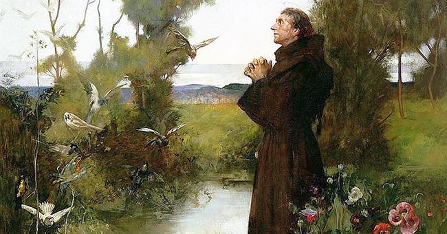 """Albert Chevallier Tayler, """"St. Francis"""" (1898)"""