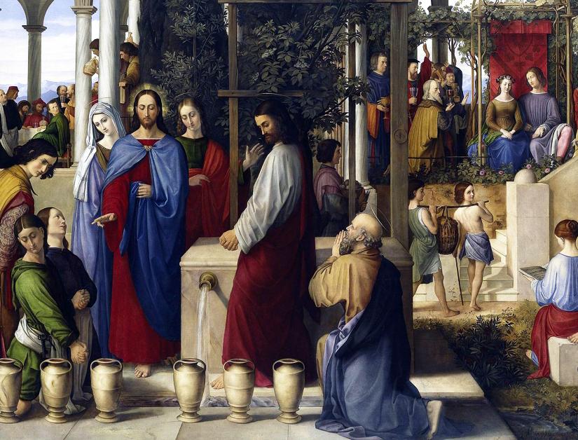 """Julius Schnorr von Carolsfeld, """"The Wedding Feast at Cana,"""" 1819"""