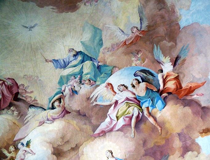 """Johann Jakob Zeiller, """"God the Father"""" (detail)"""