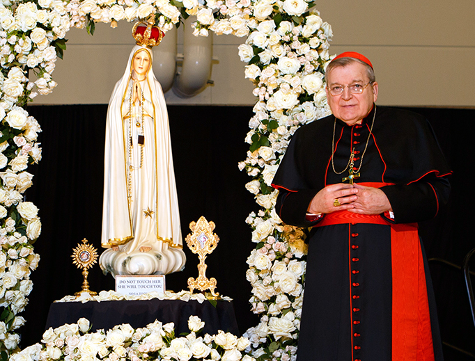 Cardinal Burke is main speaker at the Fatima Centennial Summit