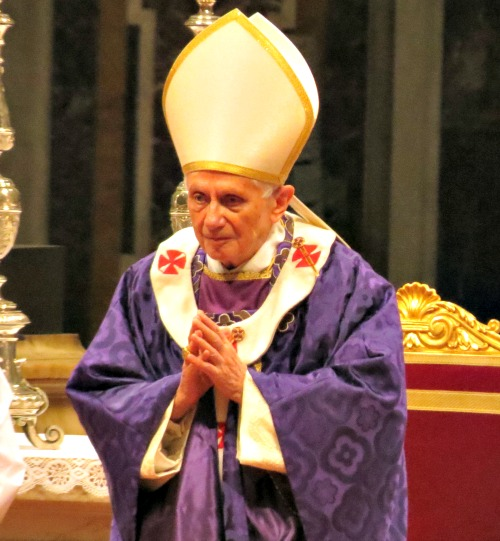 Pope Benedict celebrates Mass on Ash Wednesday 2013, two days after he announced his intention to resign the papacy.