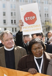 Clergy at interfaith rally about foreclosures in Washington, D.C., last November.