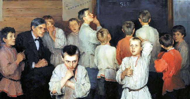 "Nikolay Bogdanov-Belsky, ""Mental Calculation, in Public School of S.A. Rachinsky"" (1895)"