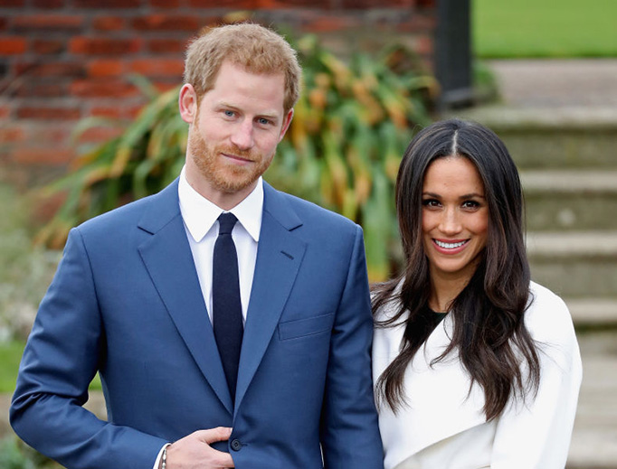 Prince Harry and Meghan Markle announce their engagement at Kensington Palace on Nov. 27, 2017 in London, England.