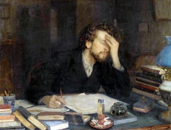 """Leonid Pasternak (1862–1945), """"The Passion of Creation"""""""