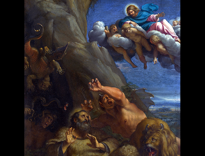"""Annibale Carracci (1560-1609), """"The Temptation of St. Anthony the Abbot"""""""