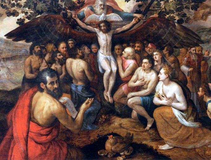 """Frans Floris I, """"The Sacrifice of Jesus Christ, Son of God, Gathering and Protecting Mankind,"""" 1562"""